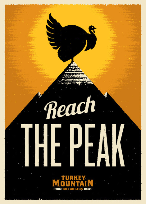 Turkey Mountain Brewhaus Poster #beer #poster