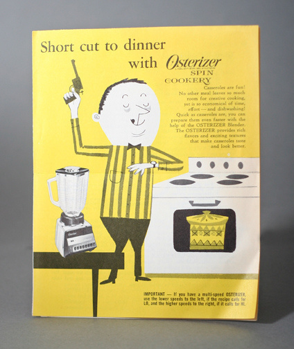 Short cut to dinner with Osterizer #cookbook #modern #color #two #kitchen #mid #vintage #century #ephemera