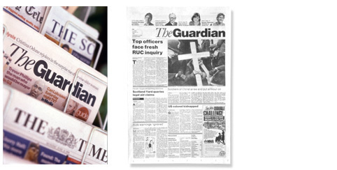 Studio David Hillman Portfolio | Editorial | The Guardian #miller #garamond #hillman #guardian #newspaper #the #grid #80s #helvetica #david