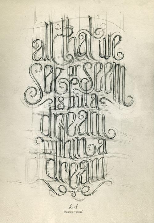 monaux:Poe. #type #pencil #drawing