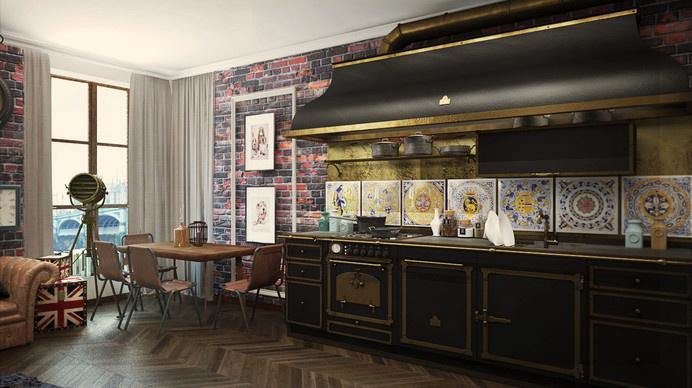 eclectic 32 Sqm studio apartment in London #interior #london #design #studio #apartment