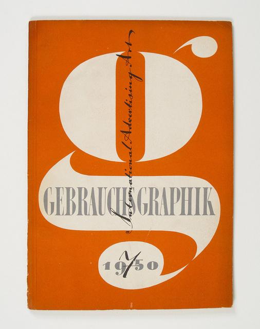 endilletante:Cover of Gebrauchsgraphik by Heinz Hadem, 1950 by Herb Lubalin Study Center on Flickr. #gebrauchsgraphik #design #novum #magazine
