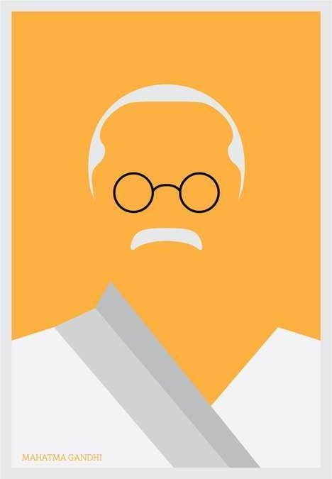 Best graphic vectors gandhi design minimal images on for Minimal art face