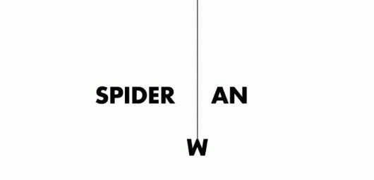 Wordplay › Illusion – The Most Amazing Creations in Art, Photography, Design, and Video. #logo #spiderman #funny