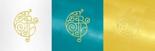BF monogram color check | Flickr - Photo Sharing! #flourish #stamp #nouveau #monogram #art #logo #foil