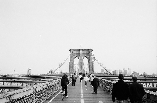 New York | Flickr - Photo Sharing! #white #black #photography #and #york #bridge #brooklyn #new
