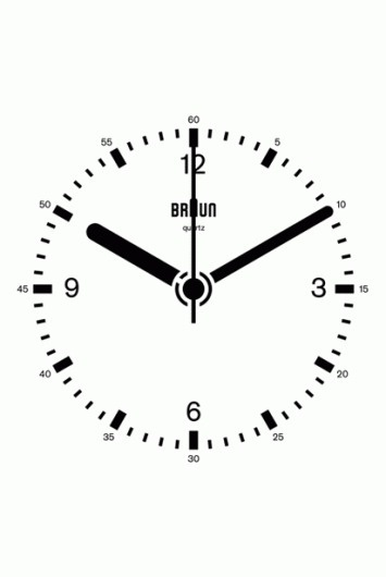 Braun Clock GIF by Dieter Rams, Dietrich Lubs | Daily Icon #white #black #braun #gif #time #and #clock