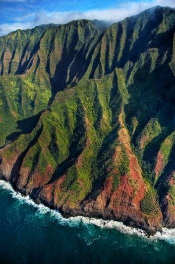 Na Pali Coast aerial - Kauai, Hawaii | Flickr - Photo Sharing! #green #color #valley #landscape