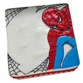 Web of Spiderman Cake 1kg Vanilla - spiderman cakes