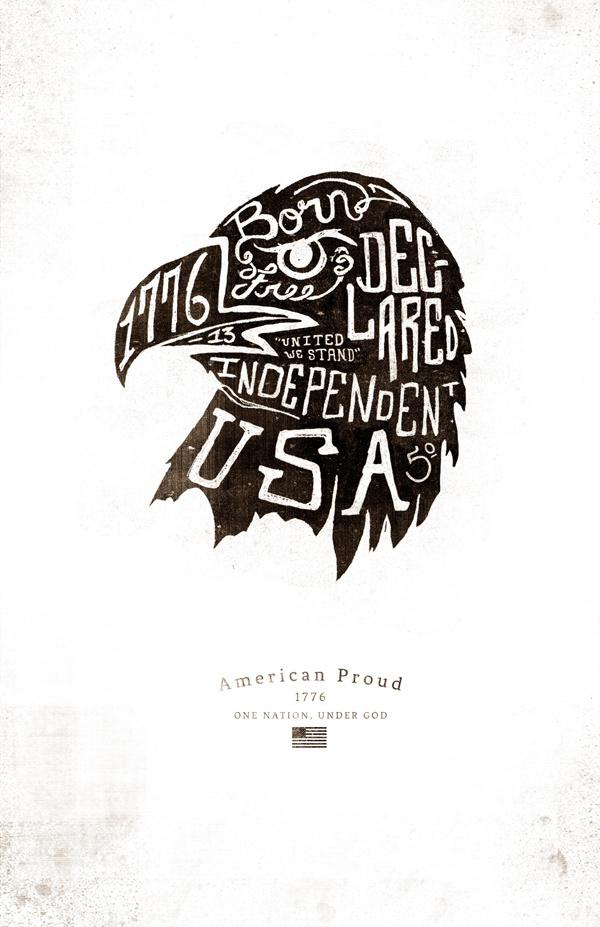 American Proud on Behance, Jeremy Teff #illustration #drawn #hand #typography
