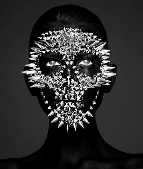 This happens all the time. #bizarre #white #silver #eyes #black #photography #face #portrait #and #metal #skull #beauty