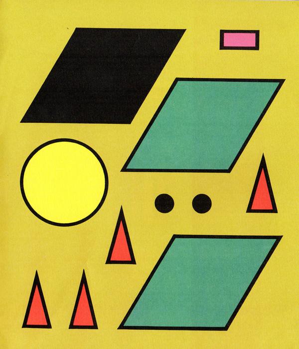 Shapes #yellow #shapes #circles #black #triangles #green