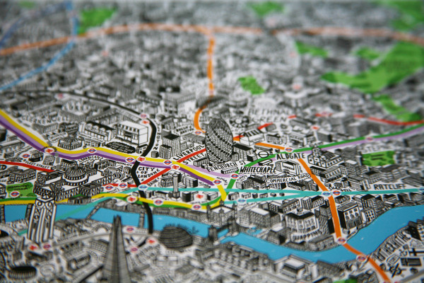 Hand drawn Map of London on the Behance Network #london #maps