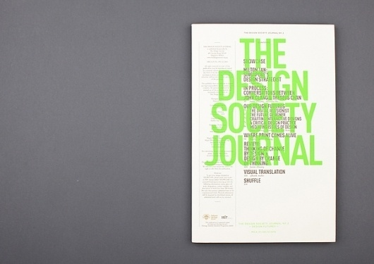 The Design Society Journal № 2 on the Behance Network #design #cover #layout #editorial #magazine #typography