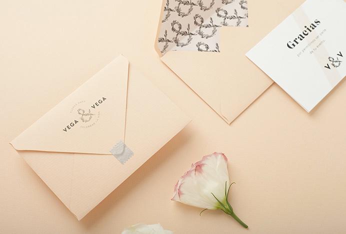 Vega & Vega by Menta . #mark #nature #flowers #stationary #print #graphic #design #envelope