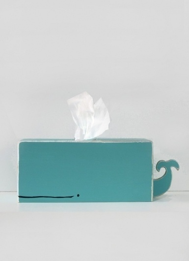 Whale Tissue Holder Cyan by gnomesweeeetgnome on Etsy #tissue #whale #design #product #holder