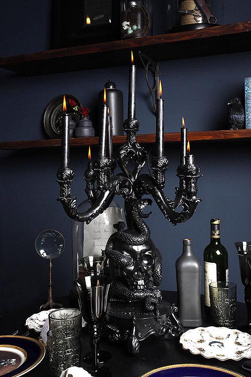 MicheleVarian_candelabrafull_DS #interior #design #decor #deco #dark #decoration