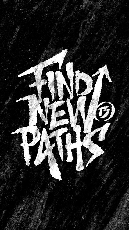 Find New Paths #handcrafted #lettering #design #graphic #craftsmanship #type #typography