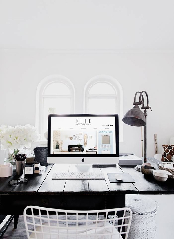 THE STYLE FILES by Danielle – The Black and Beige #white #and #office #home #black #desk #minimal #workspace