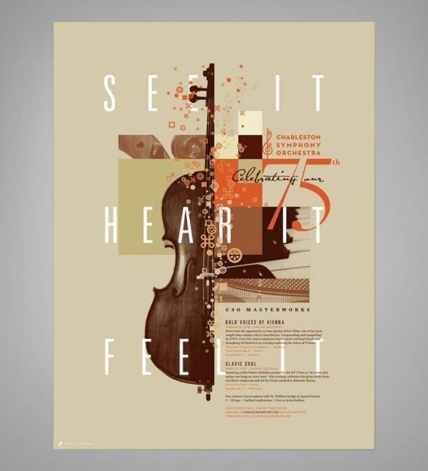 Design for Charleston Symphony Orchestra #earthtones