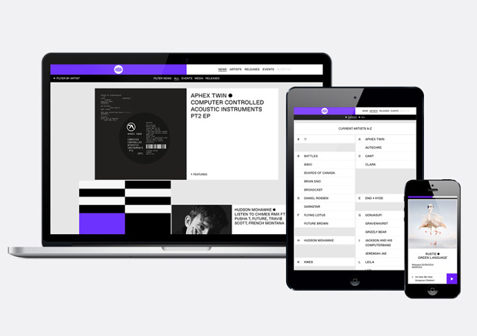 Warp Records by Till Wiedeck #website