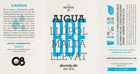 Barcelona Beer Festival #slab #beer #serif #modern