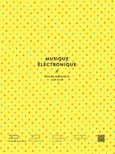 Fête de Marquette   Kyle Tezak #tezak #yellow #kyle #swink #musique #poster #electronique #music