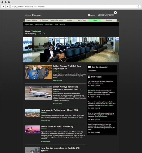 rLondon City Airport. Website. #agency #tree #in #london #design #fish #graphic #website #identity #logo #brochure