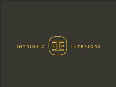 Just another logo variation for Intrinsic Interiors. A interior Design consultancy #lettering #logo #mark #branding #design #monogram #inter