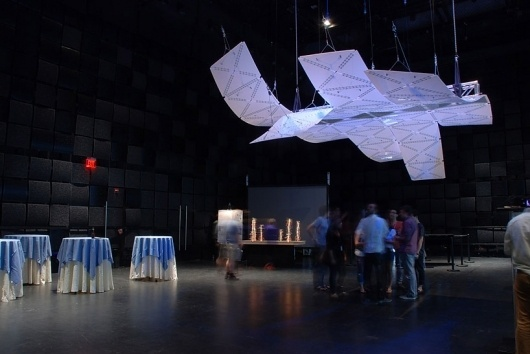 smartgeometry 2012: manta - acoustically responsive sculpture #geometry #installation #movement #responsive #audio