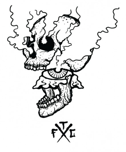 RAWZ #white #black #tfc #freedom #illustration #skull #club