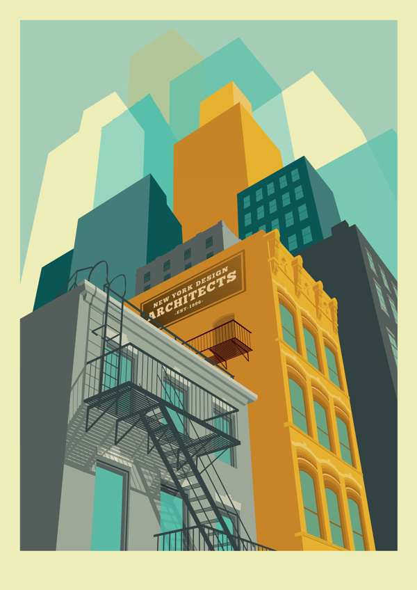 architectural illustration playing with fidelity #vector #geometric #illustration #architecture #fidelity