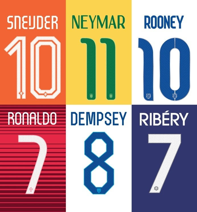 NIKE world cup fonts #world #nike #typeface #custom #numbers #cup