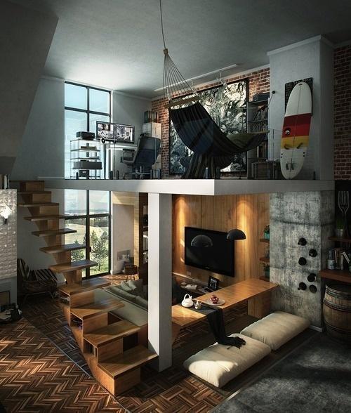 Loft Hammock Workspace #workspace