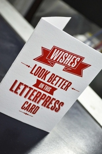 Letterpress greeting card on the Behance Network #card #look #letterpress #wishes #greeting #better