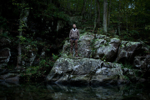 Photo: Ashley Florence #fashion #man #forest #rock