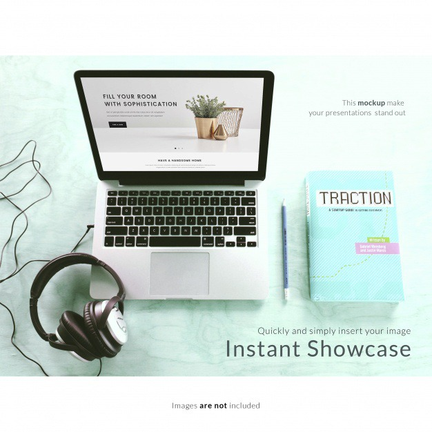 Laptop with headphones and notebook mock up Free Psd. See more inspiration related to Mockup, Technology, Template, Laptop, Web, 3d, Website, Notebook, Mock up, Headphones, Psd, Templates, Keyboard, Website template, Screen, Mockups, Up, Web template, Realistic, Real, Web templates, Technological, Mock ups, Mock, 3d mockup, Psd mockup and Ups on Freepik.