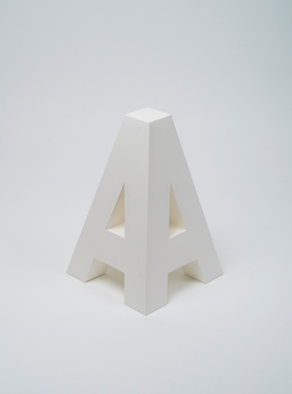 4D on the Behance Network #model #letter #4d #graphics #paper #typography