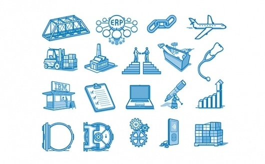 IBM icons on the Behance Network #icons