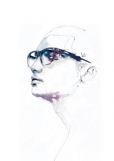 Chapter 01 on the Behance Network #glasses #illustration #watercolor #sketch