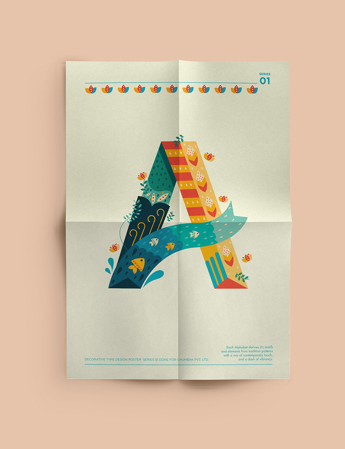 Decorative Type posters on Inspirationde #lettering #vector #design #illustration #art #typography