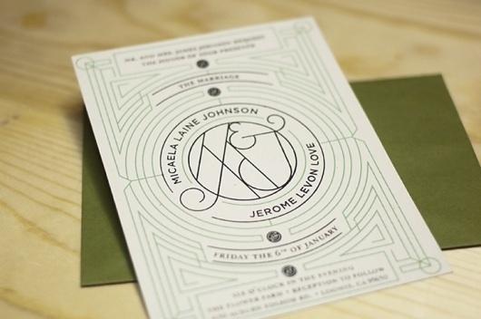 Benjamin Della Rosa // Graphic Design // Illustration #invitation #screen #silk #deco #wedding