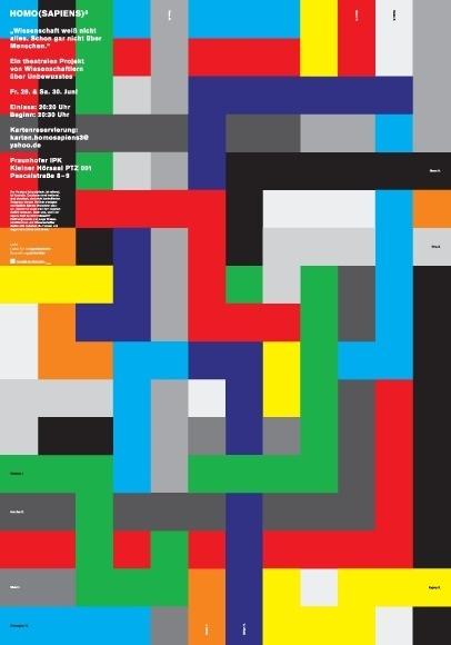 Ingmar Spiller Visuelle Kommunikation #pisel #minimalistic #color #grid #poster