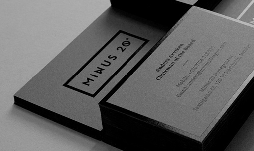 minus 20 management by the forgery // via design work life #nordic #minimal #branding #typography