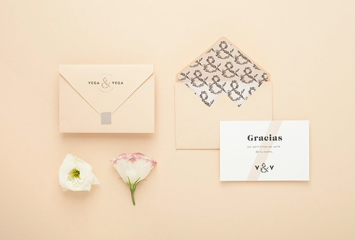 Vega & Vega by Menta . #mark #nature #flowers #stationary #print #graphic #design #envelope