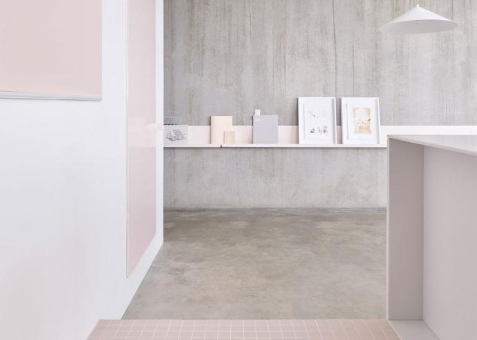 Melbourne Gallery Apartment minimal interior design deluxe concrete white pink soft beautiful beauty scandinavian danish new modern best