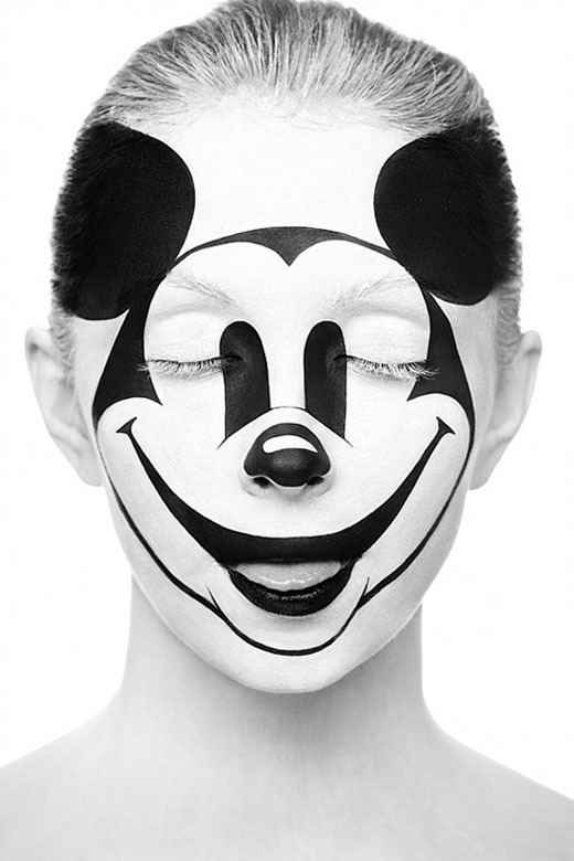 b_w_faces_1 #mickey #mouse #paint #disney #face
