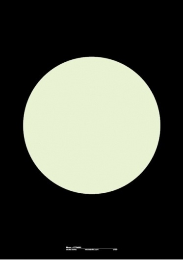 Monoscope #white #build #in #print #black #the #minimal #poster #glow #circle #dark #moon