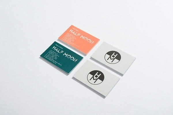 Half Moon - Graphic Projects - Projects of Imagination #business #of #color #cards #imagination #projects #half #moon