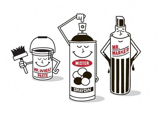 Made You Look: Grotesk   Matthew Newton #urban #graffiti #illustration #meyer #kimou #art #grotesk